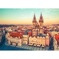 1000片木质拼图玩具布拉格城堡礼物唯美风景