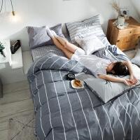全棉铺盖套被套被单床单三件套床上用品大学生宿舍 单人男生纯棉