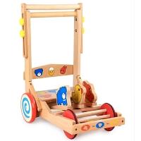 木制儿童学步车手推车玩具可调速助步车防侧翻