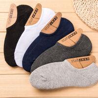 毛巾袜子男薄款短袜黑船袜男运动吸汗透气纯色低腰半隐形 均码