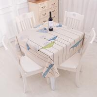 正方形桌布八仙餐桌布水免洗油台布棉麻布艺风格方桌麻将盖布j 正方桌布137*137CM