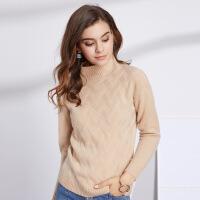 秋冬款女士纯色羊绒衫女半高领套头打底毛衫 毛衣女外套