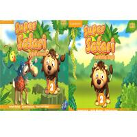 剑桥 3-6岁幼儿英语 Super Safari Level 2 Pupil's Book with DVD-ROM+Activity Book 学生套装