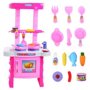 【领券立减50元】女孩玩具儿童过家家玩具 仿真餐具厨房做饭煮饭过家家厨房玩具厨具餐具套装活动专属