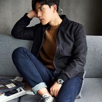 【2件2.5折】唐狮秋装夹克外套男韩版青少年暗纹迷彩棒球服男装外套潮7.22