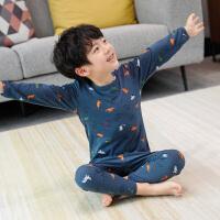 童装男童睡衣春秋儿童家居服内衣套装纯棉宝宝两件套