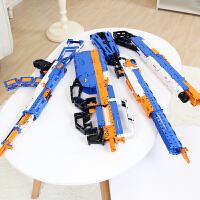 男孩玩具枪可发射塑料枪积木枪儿童拼装6-7-8-10岁