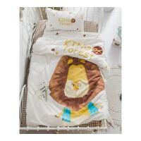 夏木定制水洗棉卡通婴儿床品床单幼儿园 亲子套件 儿童三件套