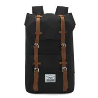韩版双肩包男士英伦帆布休闲大学生书包学院风大容量户外旅行背包