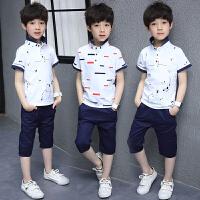 童装男童夏装套装6短袖男孩7夏季两件套