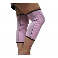 男女运动户外护膝保暖骑车登山羽毛球篮球跑步健身护具 粉红色2只