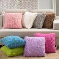 伊迪梦家纺 山羊绒方形抱枕 浪漫淑女公主风家纺床上用品保暖枕LS604