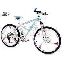 山地车自行车24寸26寸铝合金车架24速碟刹减震学生变速车男女赛车
