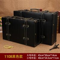欧式复古手提箱储物木箱衣服收纳皮箱子旅行箱婚纱摄影道具整理箱