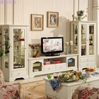 韩式田园电视柜酒柜组合客厅 地柜欧式简约成套家具 单门 双门酒柜 电视柜 茶几 组装