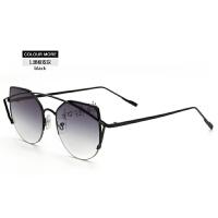 个性猫眼金属架墨镜户外旅行时尚潮流彩膜太阳眼镜