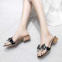 女士拖鞋韩版户外时尚ins潮中跟百搭性感气质女鞋