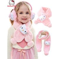 儿童围巾女童凯蒂猫kt猫围脖冬季保暖宝宝小女孩可爱脖套卡通幼儿