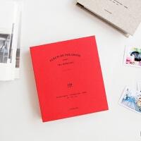 迷你相片记录册 拍立得相册名片收纳册120张 red 复古红