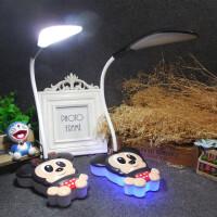 卡通米奇米妮儿童阅读学生学习宿舍卧室书桌触摸调光充电led台灯