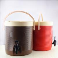 商用大容量13L保温桶提手带龙头奶茶桶冷热果汁豆浆饮料桶开水桶