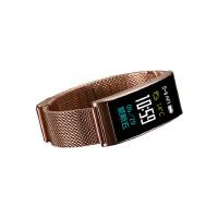 钢带金属智能手环手表彩屏蓝牙心率血压计步安卓微信学生防水男女