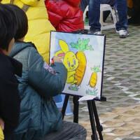 套装儿童水彩画涂鸦画公园泡沫板画架涂色板填色颜料画43*33涂彩