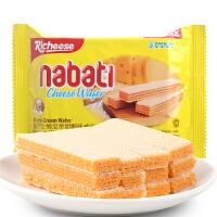印尼进口richeese丽芝士纳宝帝奶酪味威化饼干58g 特产休闲零食品