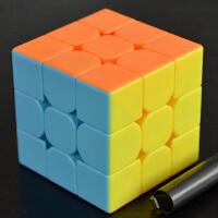 豪华版益智魔方三阶实色魔方玩具3阶顺滑专业比赛魔方顺滑