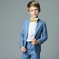 男童西装套装儿童西服韩版修身礼服秋花童礼服男孩学生演出小西装