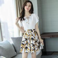安妮纯2019夏季新款女装很仙的连衣裙气质时尚洋气甜美套装两件套裙子潮