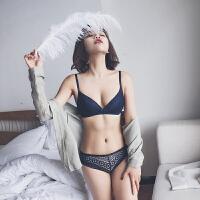 夏季性感薄款无钢圈女士内衣小胸聚拢胸罩收副乳文胸套装