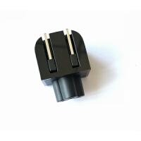用于惠普HP 电源充电器折叠插头 梅花转两插笔记本电源适配器插头