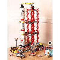 航天飞机积木男孩子6-7-8-9岁多功能儿童益智积木拼装玩具10智力