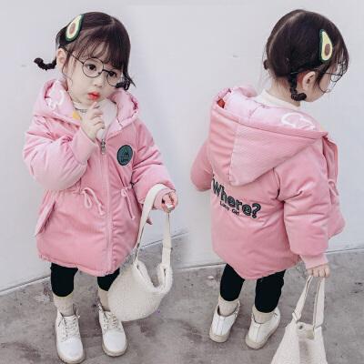 女童装冬装棉袄新女孩羽绒中长款宝宝棉衣外套