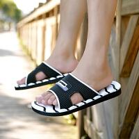 拖鞋男一字拖夏季男士拖鞋潮人休闲外穿凉拖男土鞋拖海边度假脱鞋