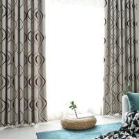 隔音窗帘成品简约现代欧式客厅落地窗卧室遮阳布窗帘遮光布遮光J