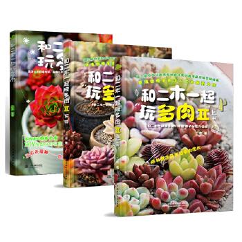和二木一起玩多肉全3册 多肉植物养殖种植书籍 二木的多肉花园植物店二木花花男花卉养护大全  天天向上多肉推荐四季养花