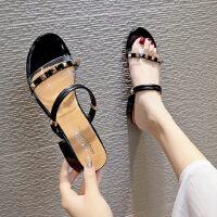 户外配裙子的凉拖鞋时尚女士拖鞋外穿休闲粗跟女鞋