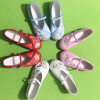 新款女童绣花鞋老北京儿童布鞋民族风宝宝公主鞋学生古装表演出鞋