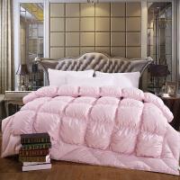 家纺2017秋冬款单双人棉被子羽绒被加厚白鹅绒朵朵绒鹅绒被子床上用品