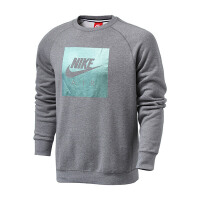 Nike耐克男装2018春款运动休闲圆领加绒套头衫保暖卫衣832163