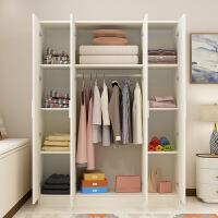 衣柜2门3门4门大衣柜简约现代经济型组装简易衣柜实木质板式衣橱T 暖白色50深 高180 宽160