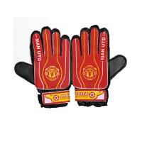 曼联足球守门员手套球迷版门将舒适透气足球护具手套 曼联足球守门员手套 专业乳胶足球守门员 红色