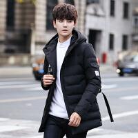 男士棉衣新款韩版修身休闲帅气加绒加厚棉袄短款冬季外套男装 黑色 M