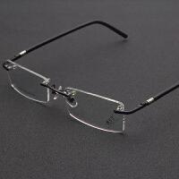 超轻无框眼镜架男士高质感无边框商务眼镜框潮框架眼镜眼睛框