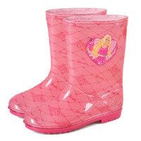 儿童雨鞋芭比公主女童雨鞋可爱雨鞋雨靴男孩托马斯雨鞋