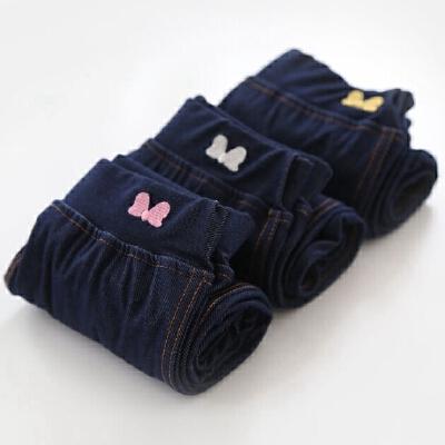 定制款 深裆高腰打底裤 深蓝好搭配的女童仿牛仔裤 侧边线的利落 发货周期:一般在付款后2-90天左右发货,具体发货时间请以与客服协商的时间为准