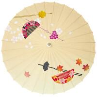 日式装饰花伞红色樱花日式油纸伞动漫伞新年餐厅店铺装饰装修纸伞 加纱