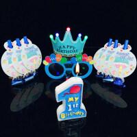 儿童生日派对布置用品儿童生日派对装饰布置用品生日帽子吹龙派对眼镜卡通生日蜡烛